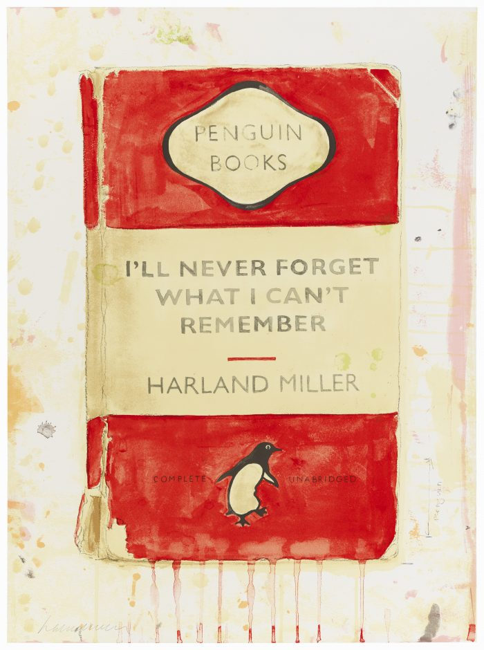 Harland Miller, I'll Never Forget What I Can't Remember