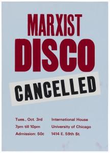 Scott King, Marxist Disco (Cancelled)