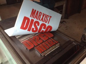 Scott King, 'Marxist Disco (Cancelled)', 2015, production image