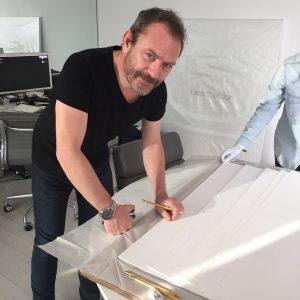 Liam Gillick signing 'Immanent Critique'