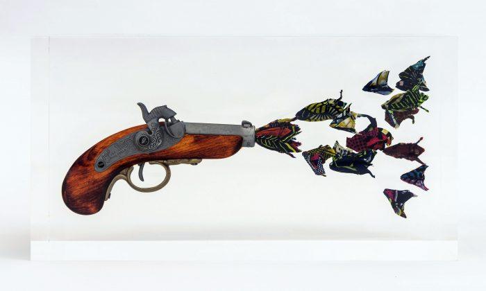 Yinka Shonibare, Flower Gun